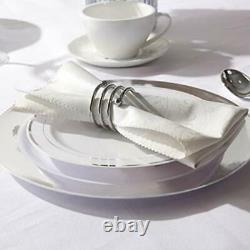 100Pieces Plastic Plates-10.25inch Rim Disposable Dinner Plates-Ideal Silver