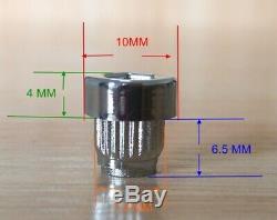 120 x Chrome Silver Plastic Wheel Rivets Nuts Rim Lip Replacement Alloy Studs J3