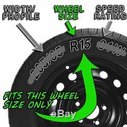 15 4 pcs Set Hub Cap ABS Silver Inch Rim Wheel Cover Replica Skin Covers Caps