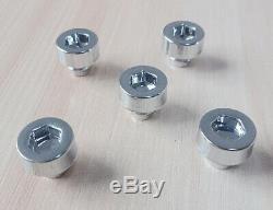 150 x Chrome Silver Plastic Wheel Rivets Nuts Rim Lip Replacement Alloy Studs J5