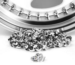 160 x Chrome Silver Plastic Wheel Rivets Nuts Rim Lip Replacement Bolts Studs B