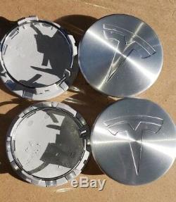 2012 2018 TESLA MODEL S WHEEL RIM CENTER HUB CAP HUBCAP Bright Silver OEM