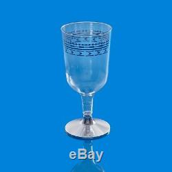 300 x Strong Disposable Plastic Wine Glasses 170ml /6oz Fancy Silver Rim Design