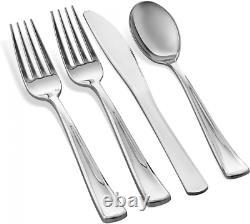350 Piece Silver Dinnerware Set 50 Guest Rim 350 Piece