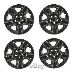 4 Black 17 Wheel Skins Hub Covers Full Rim Skin For 2006-2012 Toyota RAV4