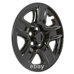 4 Black 2006-2012 Toyota RAV4 17 Wheel Skins Hub Caps Full Rim Skin Covers New