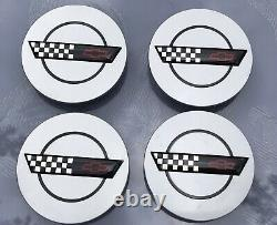 4 Corvette 10137865 Chevrolet Genuine Oem Wheel Center Caps Just Found Nice