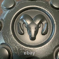 4 Dodge RAM 2500 3500 OXY18PAKAD 8 Lug Factory OEM SRW Center Cap Cover BLACK AK