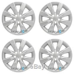 4 NEW 16 Silver Hubcaps Rim Wheel Covers for 2009-2019 TOYOTA COROLLA MATRIX