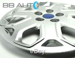 4 NEW 16 inch Silver Hubcaps Rim Wheel Covers Set for 2012-2014 FORD FOCUS