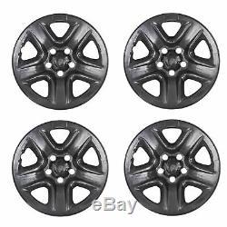 4 PC Black For 2006-12 Toyota RAV4 17 Wheel Skins Hub Caps Full Rim Skin Covers