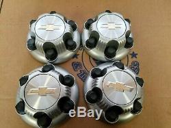 4 Set Chevy Silverado 22837059 Factory OEM Center Wheel 6 Lug Hub Cap Rim Cover