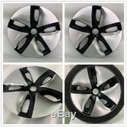 4pcs Car Hubcaps Caps Rim Cover For Tesla Model 3 2016-2019 18 Wheel Hub Silver