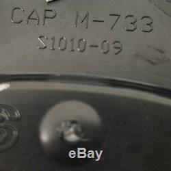 4x Spyderlock Wheels Rim Center Hub Caps Satin Black PS756 5x4.5/5x5 Silver Logo