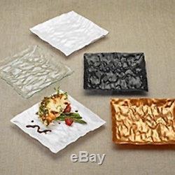 7.25 Salad Plate 120ct. Square Plastic Disposable-Reusable UNIQUE DESIGN