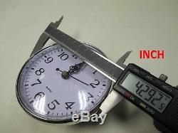 9 Silver Plastic Rim Quartz Clock Insert. Diameter 110mm/ about 4- 5/16 Inch