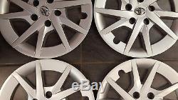 A Set 16 Toyota Prius 2012-2015 Silver Hubcap Wheel Cover Rim Cover 570-61165