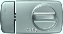 ABUS 532931 7010 S Door Rim Lock with Rotating Thumb-Turn Silver
