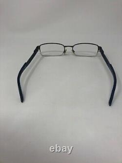 ARMANI EXCHANGE AX127 Eyeglasses Frame Half Rim 53-18-140 Silver Blue Q374