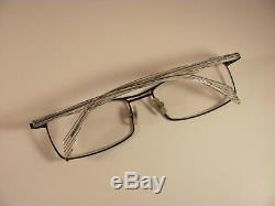 Alain Mikli ML0939 Clear Black & Silver Full-Rim RX Eyeglass Frames 57-16-140