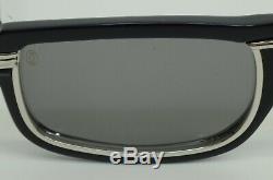 Authentic Cartier Sunglasses Vertigo 54 25 135 Navy Frame Silver Rim Louis WG V2