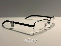 Authentic Gucci GG1948 006 Men's Half Rim Black/Silver Rubber/Metal Eyeglasses