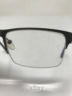 BUM EQUIPMENT CLEAR Eyeglasses Frame 52-16-140 Half Rim Gunmetal Silver IB22