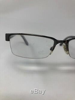 BURBERRY B1156 1003 Eyeglasses Frame Italy Half Rim 52-17-140 Silver/Clear NV30