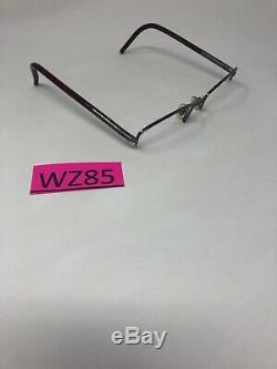 BURBERRY B1157 1003 Eyeglasses Frame Italy Half Rim 52-17-135 Silver/Red WZ85