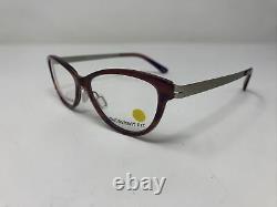 Betsy Johnson Eyeglasses Frames SASSY Purple Silver 53-16-140 Full Rim VI59