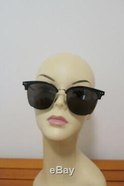 Bottega Veneta Half Rim Sunglasses BV0155SK Black/Silver