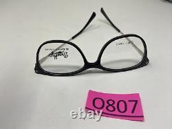 Brooklyn Heights Eyewear MARINA BLACK SILVER ULTEM 52-16-140 Full Rim O807
