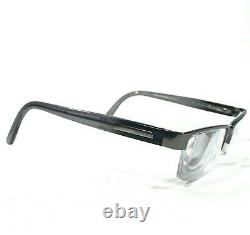 Burberry B1156 1003 Sunglasses Glasses Frames Gray Gunmetal Silver Half Rim 140