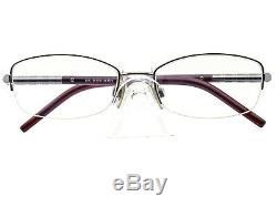 Burberry Eyeglasses B 1157 1003 Silver Burgundy Half Rim Frame Italy 5217 135