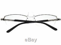 Burberry Eyeglasses B 1197 1005 Silver Black Half Rim Frame Italy 5417 135