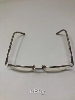 COACH FAYE 118 Eyeglasses Frame 51-18-135 Half Rim Silver Polish EE30