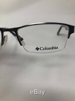 COLUMBIA GRESHAM Eyeglasses Frame Half Rim 52-17-140 Silver/Black Grey WK01