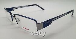 Carrera CA 7527 Blue/Silver K48 Semi Rim Metal Eyeglasses Frame 53-18-140 New