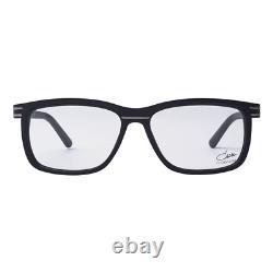 Cazal 6016 003 Matte Black and Silver Square Men Full Rim Eyeglasses 140 mm