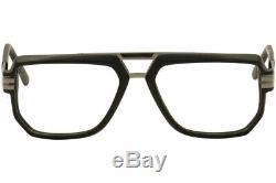 Cazal Men's Eyeglasses 6013 002 Matte Black/Silver Full Rim Optical Frame 57mm