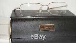 Chopard New Eyeglasses Half Rim Palladium Black VCHA07 0579 56 19 140