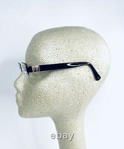 Coach Silver Metal Half Rim Frame W Logo Flex Temple Glasses Cecily 50 17 135