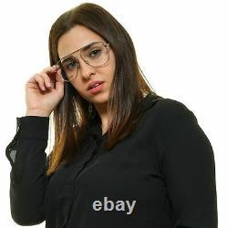 DIOR Women Silver Optical Frames Metal Plastic Solid Full Rim Aviator Eyeglasses