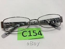 DKNY DY5566 1002 52-16-135 Black Silver Full Rim Flex Hinge Eyeglass C154