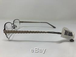 Dana Buchman Vision Eyeglasses Frame SORA GM 53-16-135 Silver Half Rim DM78