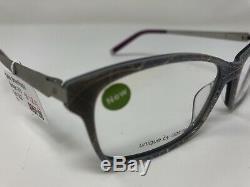 David Green Eyeglasses Frame SUNRAY SK9 53-16-135 Silver/Violet Full Rim UI52
