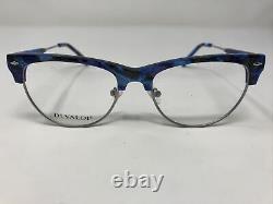Di Valdi Eyeglasses Frames DVO 8073 Col 50 Blue Silver 52-18-140 Full Rim SW69