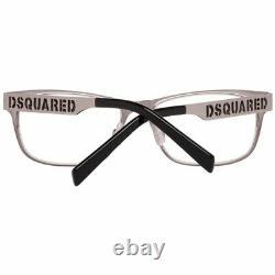 Dsquared DQ 5097 Men Silver Optical Frame Metal Full Rim Oval Fashion Eyewear