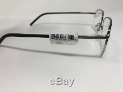 ELASTA By Safilo Eyeglasses Frame E /220 V81 56-18-145 Silver Black Half Rim 725