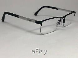 EMPORIO ARMANI EA1041 3094 Eyeglasses Frame Half Rim 53-17-140 Black/Silver MO19